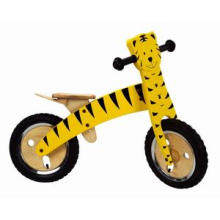 "Woody 12"" Bike Tiger/Wooden Educational Toys/Balance Bicycle"