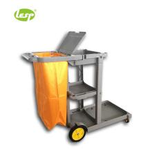 Waiter cleaning utensils workshop service trolley cart