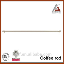 top design coffee rod, cheap adjustable shower curtain rod, spring telescopic coffee rod