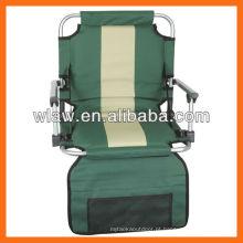 cadeira de estádio wirh braços e estofamento