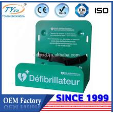 Soporte AED de montaje en pared de metal de 90 grados