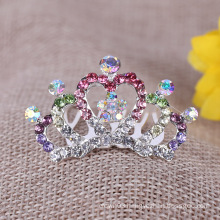 Children Crystal Crown With Combs Rhinestone Tiara Comb for Party
