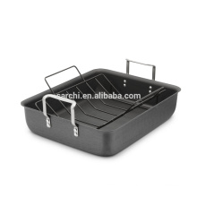 Classic Hard Anodized Aluminum Roasting Pan with Nonstick Rack