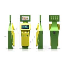 Kiosco de pago inteligente de billetes de doble cara de 22 pulgadas para impresión de billetes / tarjetas