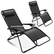 Tesoros de jardín al aire libre muebles reclinable silla con almohada