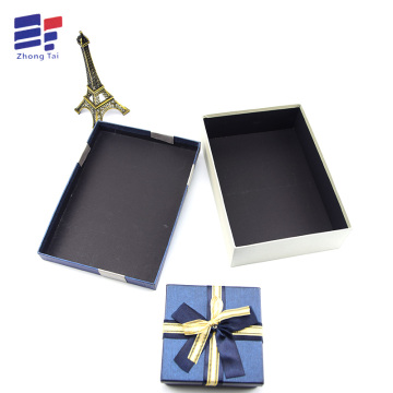 Customized Supplier for Garment Gift Paper Box Ribbon top and bottom paper packaging for electronics supply to India Manufacturer