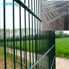 Hijau PVC dilapisi Twin Bar Weld Wire Mesh Fence