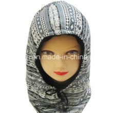Moda Fleece Chapéu Quente Outono e Inverno Padrão Cap Com Capuz Ao Ar Livre Quente