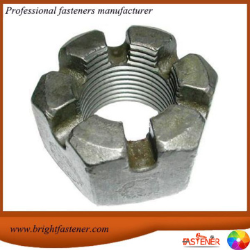 High Quantity DIN935 Hex Slotted Nut