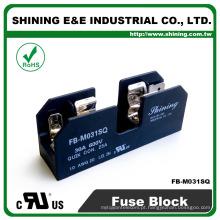 FB-M031SQ Montagem de trilho DIN 10x38 Terminal de fusíveis Midget