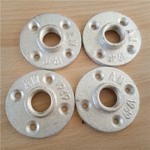 "Galvanized malleable iron pipe flange 3/4"" pipe fittings"
