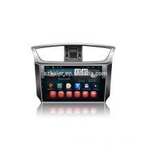 Kaier fábrica -Quad core Full touch android 4.4.2 carro dvd para Sylphy + OEM + 1024 * 600 + link mirrior + TPMS