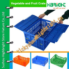 strong structure foldable plastic lidded crate/plastic crate box on sale