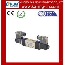 4V120-06 Válvula solenóide / Válvula solenóide pneumática de duas vias de cinco vias / liga de alumínio