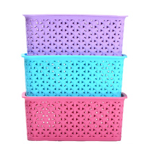 Plastic Weave Design Storage Box for Storage (SLSN057)
