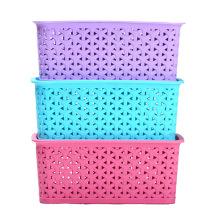 Caja de almacenamiento de diseño de tejido de plástico para almacenamiento (SLSN057)
