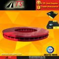 Red coating anti-rust brake rotor rust proof