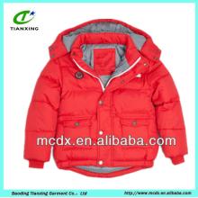 couleur rouge, brillant, ultraléger, enfants, canard, bas, vestes