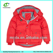 red color shiny ultralight kids duck down jackets