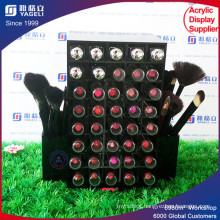 Black Acrylic Lipstick Holder with Brush Stand