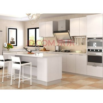 Customized Anti Scratch White Wood Kitchen Cupboard (many colors)