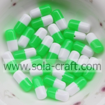 Multi-Colored Beautiful Capsule Resin Acrylic Jewelry Beads Wholesale