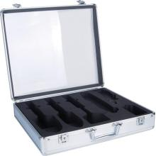 cheap aluminum barber tool case in silver