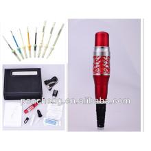 Lápis de tatuagem de tatuagem de sobrancelha e lábio, caneta de tatuagem artesanal profissional