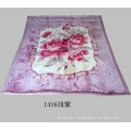 220 * 240cm cama doble flor impresa Raschel visón mantas