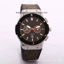 Promoción Japan Movement Leather Band Reloj de pulsera Hombres
