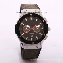 Promotion Japan Movement Leather Band Wrist Watch Men