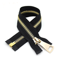 Heavy Duty Gold Plating Dental Separating Coat Zipper