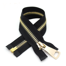 Heavy Duty Gold Plating Teeth Separating Coat Zipper