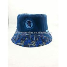 Algodão pritting balde chapéu / boa meterial balde chapéu