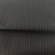 Stripe deco worsted wool fabric
