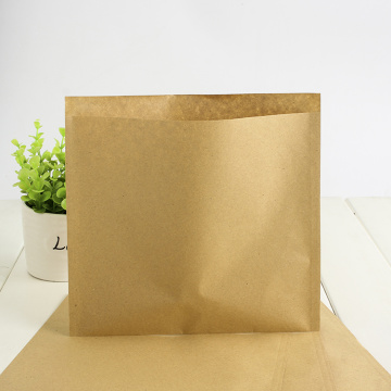 Bolsa de papel Kraft biodegradable de 3 sellos laterales