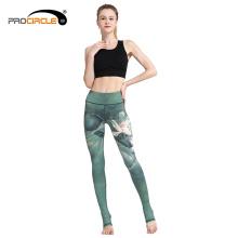 Atacado Fitness Esporte Sublimação Mulheres Yoga Calças