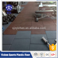 Bonne tuile de plancher de caoutchouc de crossfit élastique de protection, tapis en caoutchouc pour la gymnastique