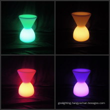 Outdoor Colorful Waterproof Furniture LED Drum Chair (H026)