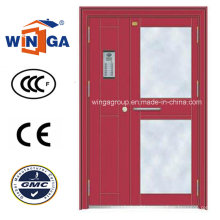 Good Quality Security Metal Steel Glass Door for Outside (W-GD-18)