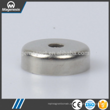 China good supplier fine quality neodymium pot magnet with round hole