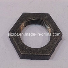"Malleable Iron Pipe Fittings 3/4"" Black Locknut"