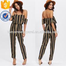 Multicolor Flounce Layered Neck Striped Jumpsuit OEM/ODM Manufacture Wholesale Fashion Women Apparel (TA7005J)