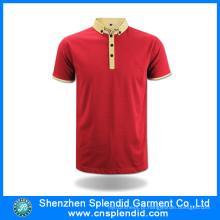Venda Por Atacado Moda Vestuário 100% Algodão Blank Polo T Shirt
