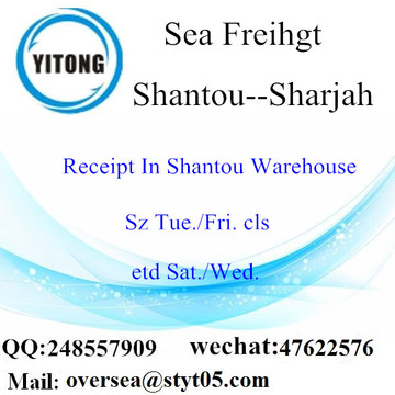 Shantou Port LCL Consolidation To Sharjah