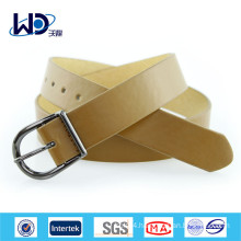 Basic Style Single Pin Buckles Ladies Wide PU Belts