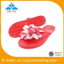 2016 nouveau style Chine usine prix PVC pantoufles femme sandalia