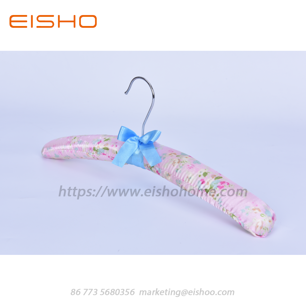 Bb09 2 Pink Satin Padded Hanger