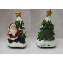 Portabel Night Light Polyresin Santa Claus Mini USB Bluetooth Speaker