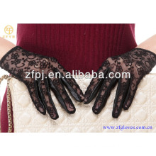 Fashion lady goat skin lace gloves